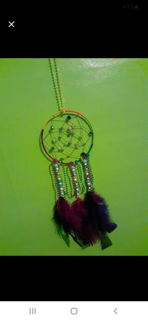Rainbow homemade dreamcatcher for Sale in Owosso, MI