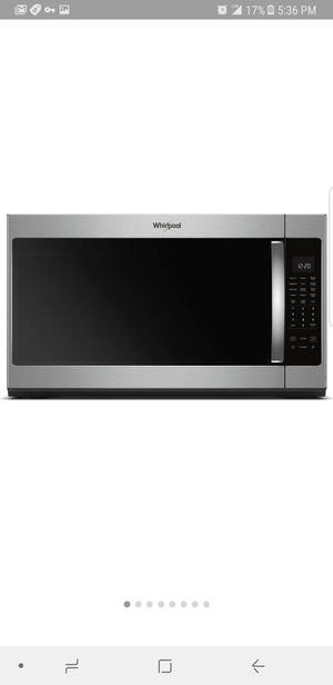 Whirlpool 2.2ft Stainless Microwave for Sale in Boston, MA
