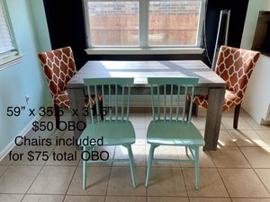 Vaneer Kitchen Table $50 table only $75 with chairs OBO for Sale in Oak Point, TX