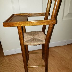 Child's Doll House High Chair Wooden Braded Seat for Sale in Chambersburg, PA