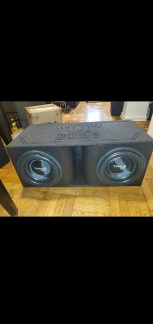 """TWO Tezla Audio 12"""" Series 2.0K 4000W EACH Subwoofer TZV1-12D12.0K for Sale in The Bronx, NY"""