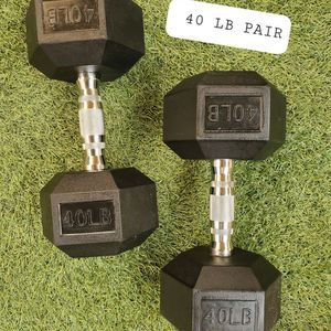 Long Beach - BRAND NEW. 40lb dumbbells. 40lb weights. 40 lb for Sale in Long Beach, CA