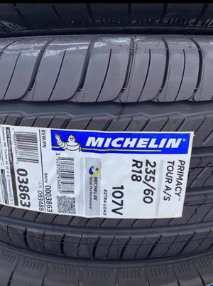 """18"""" MICHELIN PRIMACY TOUR A/S New 235/60R18 ....$149 Ea for Sale in Westminster, CA"""