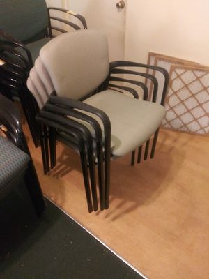 FOUR MATCHING STACKABLE LOBBY CHAIRS for Sale in Tampa, FL