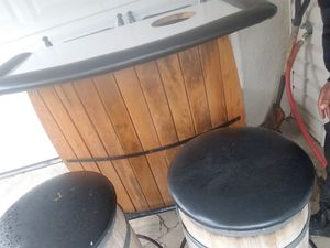 Bar with stools for Sale in Pittsburgh, PA