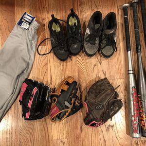 Baseball Gear - Bat, Glove, Cleats, Pants for Sale in Lacey, WA