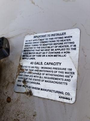 GE gas water heater for Sale in Las Vegas, NV