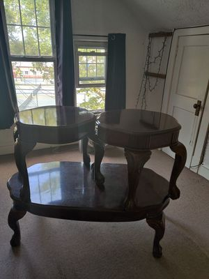 3 piece antique coffee table & 2 End tables for Sale in Perth Amboy, NJ