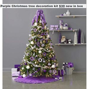 Purple Christmas tree decorations for Sale in Abingdon, VA