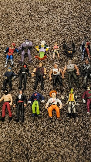 Vintage 1990's action figures, terminator,beetlejuice,mighty max for Sale in Pataskala, OH