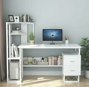 Computer table, office table, bedroom table, white computer table for Sale in Arlington Heights, IL