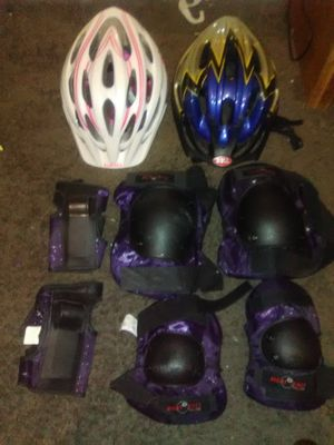 Bike helmets and pads for Sale in Lancaster, OH