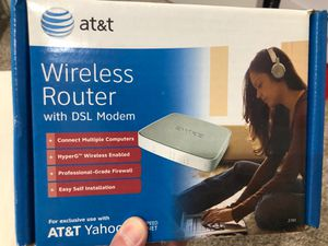 AT&T wireless router with dsl modem for Sale in Bassett, CA