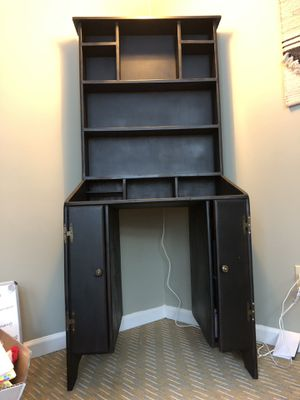 Black Desk, Solid Wood for Sale in Stone Mountain, GA