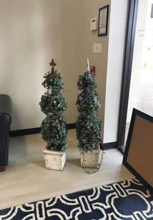 4 ft tall topiaries, string lights attached for Sale in Stafford, TX