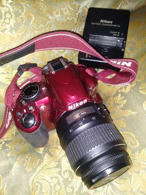 Nikon d3100 red body camera w/18_55mm lens. for Sale in Hialeah, FL