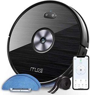 New Muzili Robotic Vacuum Cleaner and Mop, 2-in-1 Robot, 120min Runtime with 1500pa Suction, Quiet 55dB Noise, 2 Boundary Strips, Auto Self-Charging for Sale in Pomona, CA