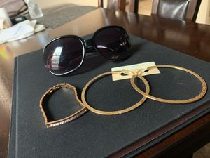 Set! Sunglasses, hoops, and bracelet. for Sale in Las Vegas, NV