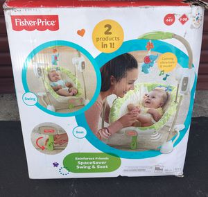 Baby Swing and Seat 2 in 1 Fisher Price $15 for Sale in Santa Ana, CA