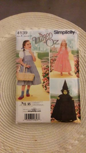 Wizard of Oz girls sewing pattern for Sale in Anaheim, CA