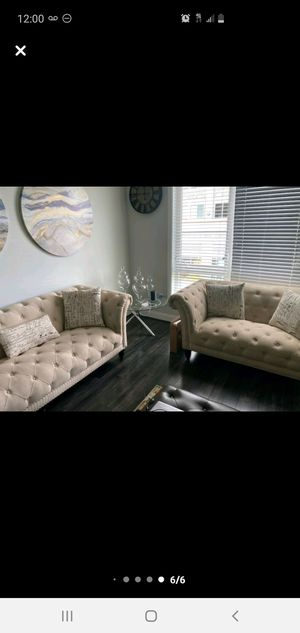 Brand new sofa and loveseat, dining able with 6 leather chairs and coffee table for Sale in MONTGOMRY VLG, MD