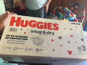 Huggies snug n dry size 3 88dipers + 35 dippers for Sale in Colma, CA