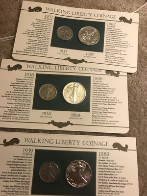 Walking Liberty coinage sale for Sale in Silver Spring, MD