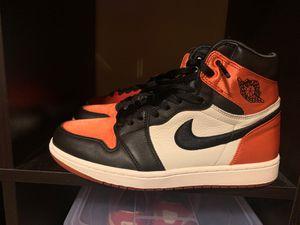 Nike air Jordan 1 high satin shattered backboard sz 9.5 basketball shoes retro for Sale in Bellevue, WA