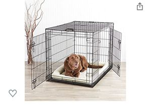 Double-Door Folding Metal Dog Kennel with Tray for Sale in Las Vegas, NV