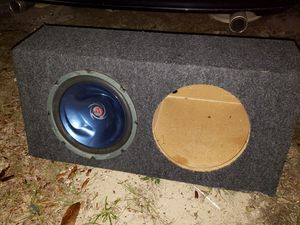 "12"" inch subwoofer box w/ one Kenwood Wave sub for Sale in Gulf Breeze, FL"
