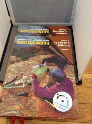 MATH TEXBOOKS - TEACHER EDITION for Sale in Braintree, MA