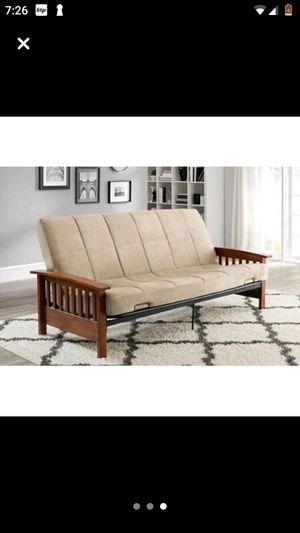 Futon - Wooden Arms for Sale in Greenville, NC