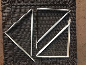 (2) White shelf brackets - only 2 remain! for Sale in Aptos, CA