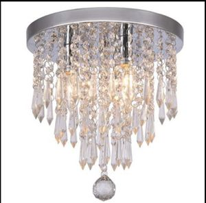 Hile Lighting Crystal Chandeliers Flush Mount Ceiling Light Lamp,Diameter 11.0 Inch Height for Sale in Frisco, TX