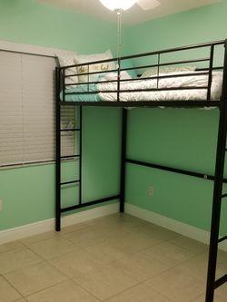 Black Metal Frame Twin Loft Bed for Sale in Riverview,  FL
