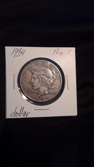 1934 peace dollar for Sale in Arlington, TX