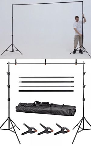 New in box 7 feet tall expand up to 10 feet wide back drop photography backdrop stand for Sale in Whittier, CA