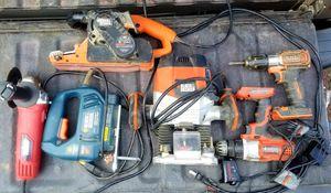 Drill,grinder,jigsaw, rooter, belt sander for Sale in Vernon, AZ
