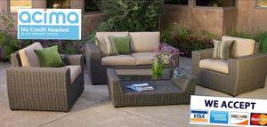 Patio furniture set sunbrella for Sale in Riverside, CA