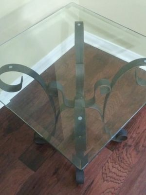 Two glass end tables for Sale in Spring, TX