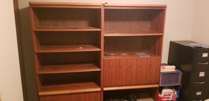 Book shelves, with Built in Desk for Sale in Columbus, OH
