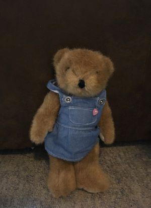 Teddy bear with overalls for Sale in Marietta, GA
