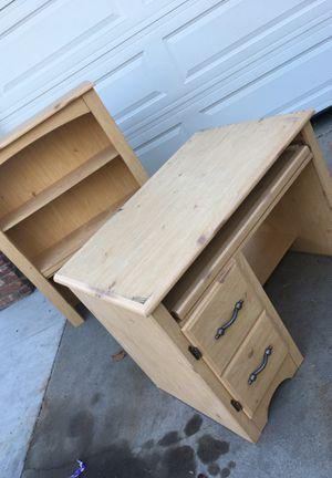 Ash desk and shelf for Sale in Fresno, CA