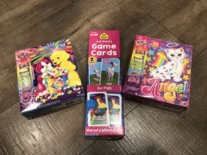 New 2-pack Game Cards + 2 puzzles for Sale in Walnut Creek, CA