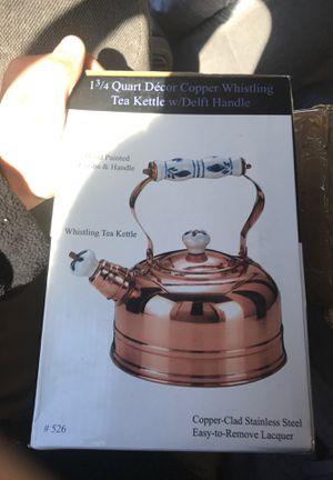 13/4 quart copper whistling Tea Kettle handle for Sale in Bethlehem, PA