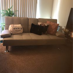 Cream Futon With Cup Holders for Sale in Baltimore,  MD