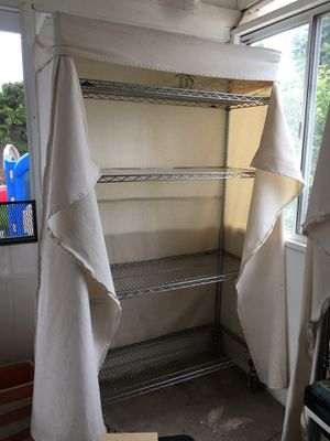 Chrome Storage Rack with 4 Shelves for Sale in Costa Mesa, CA