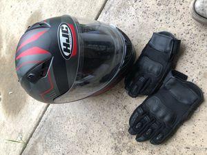 Motorcycle gloves / helmet for Sale in Orlando, FL