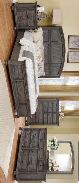 Lavonia panel 4pc Quenn or king bedroom set for Sale in Houston, TX