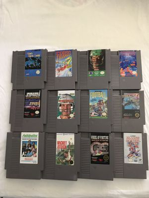 Original Nintendo Games All Games Play Fine Good Condition $5 Each Game for Sale in Reedley, CA